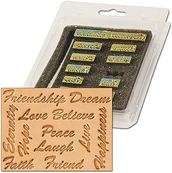 Inspirational Word 3-D Leathercraft Stamp Set 8164-00