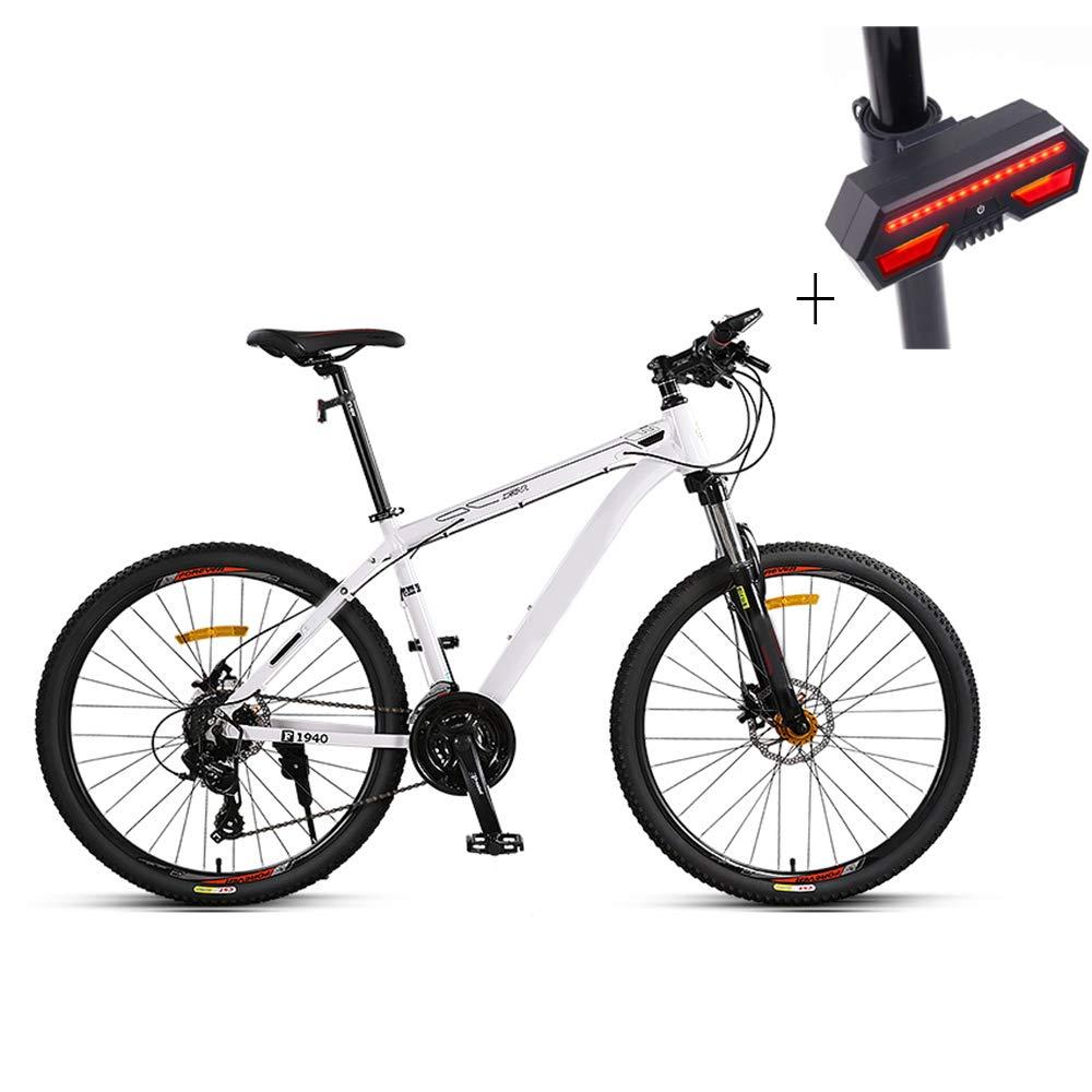 自転車、マウンテンバイク、26インチ21スピードディスクダブルブレーキアルミニウム合金高レンジオフロード車、+自転車ターンシグナル B07GWT9T5L