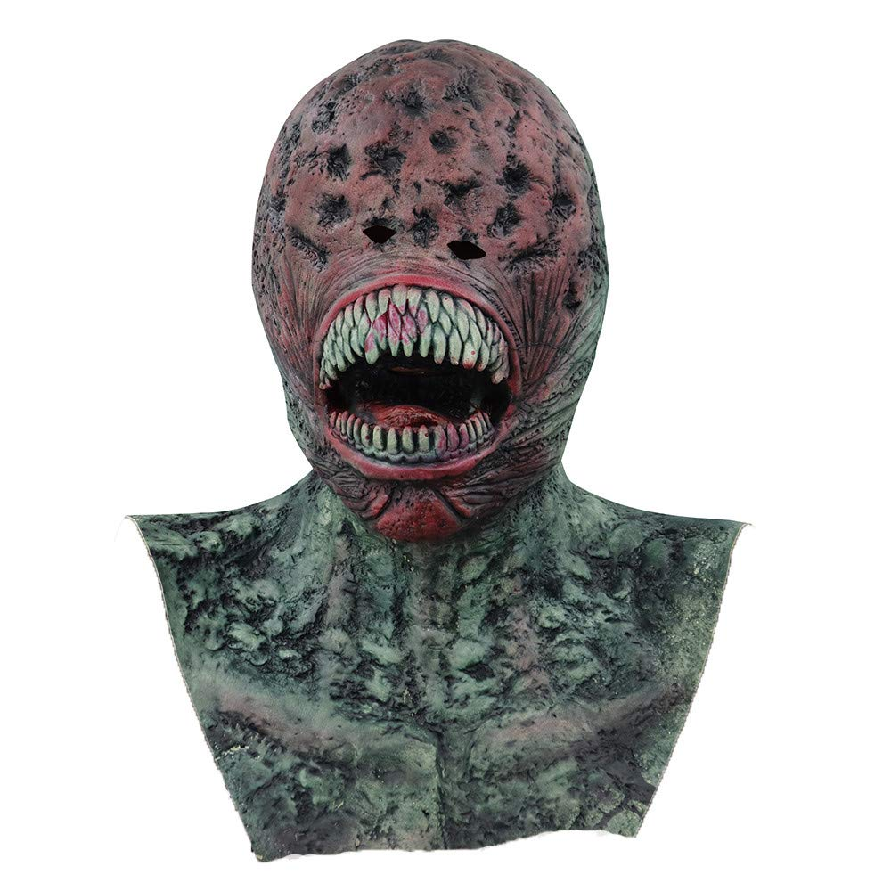 Vacally Scary Props Relaxed Realistic Devil Masks Cosplay Costume Halloween Dress Ghost Horror Costume Toy