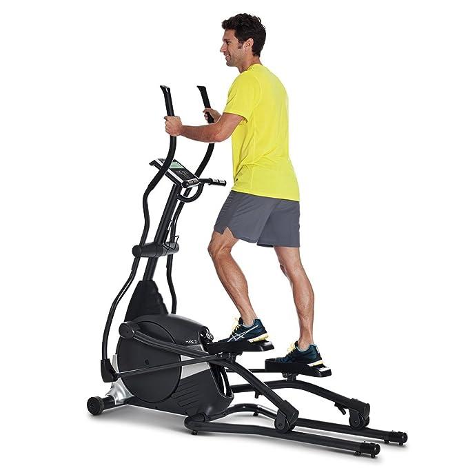 Horizon Fitness Elliptical Ergometer Andes 3, Negro/Plata, 182 x 65 x 189 cm, 100684: Amazon.es: Deportes y aire libre