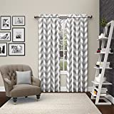 "Pairs to Go Dewitt Window Curtains (2 Pack), 84"", Gray"