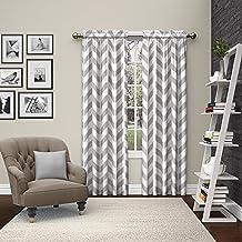 "Pairs to Go Dewitt Window Curtains (2 Pack), 84"", Gray"