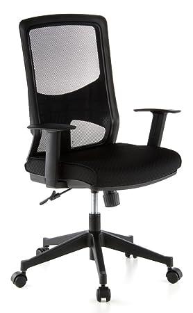 Hjh OFFICE 653100 Chaise De Bureau Siege Pivotant LAVITA Noir Usage Professionnel