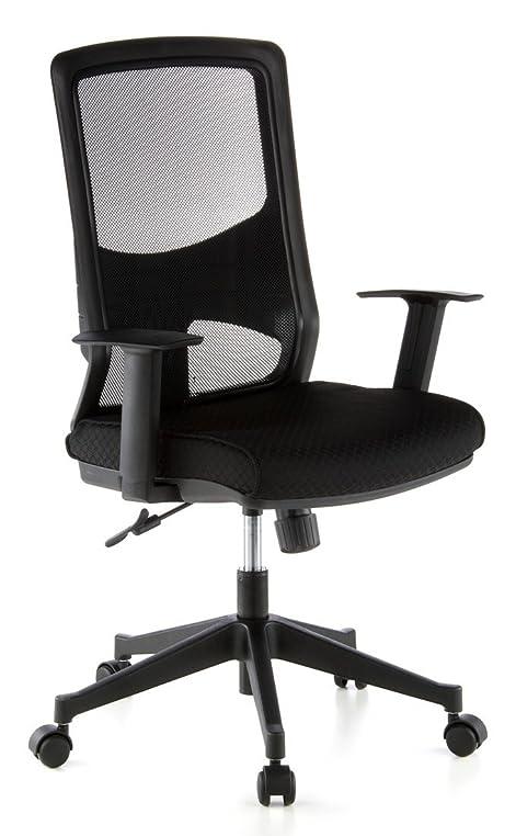 Bürostuhl ergonomisch  hjh OFFICE 653100 Bürostuhl LAVITA Netz-Stoff Schwarz Ergonomisch ...