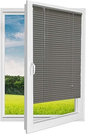 Jalousie Store Venitien En Aluminium Gris Clair Gris Dimensions 80 X 180 Cm Amazon Fr Cuisine Maison