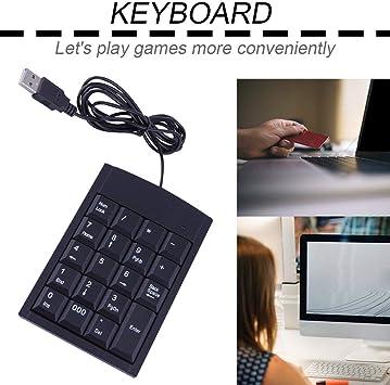 Mini Teclado USB Adaptador de Teclado numérico cableado con ...