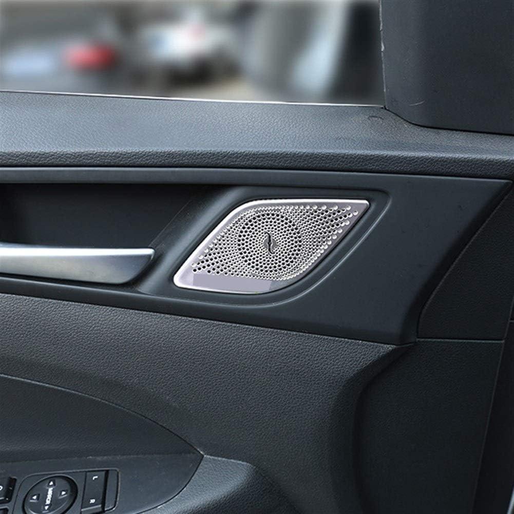 Audio Speaker Decor Cover Car Interior Foor Speaker Trim Bezel Cover Garnish For Hyundai Tucson 2016 2017 2018 2019 2020 Accessories Car Styling Color : A