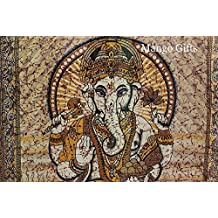 Lord Ganesha Goddess Wall Hangings 84 x 55 inches twin Size