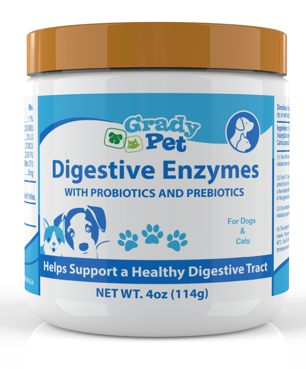 Probiotics Plus Prebiotics and Digestive Enzymes for Dogs and Cats: Digestive Remedy, Vomiting, Allergie,Itch Relief and Loose Stool Formula