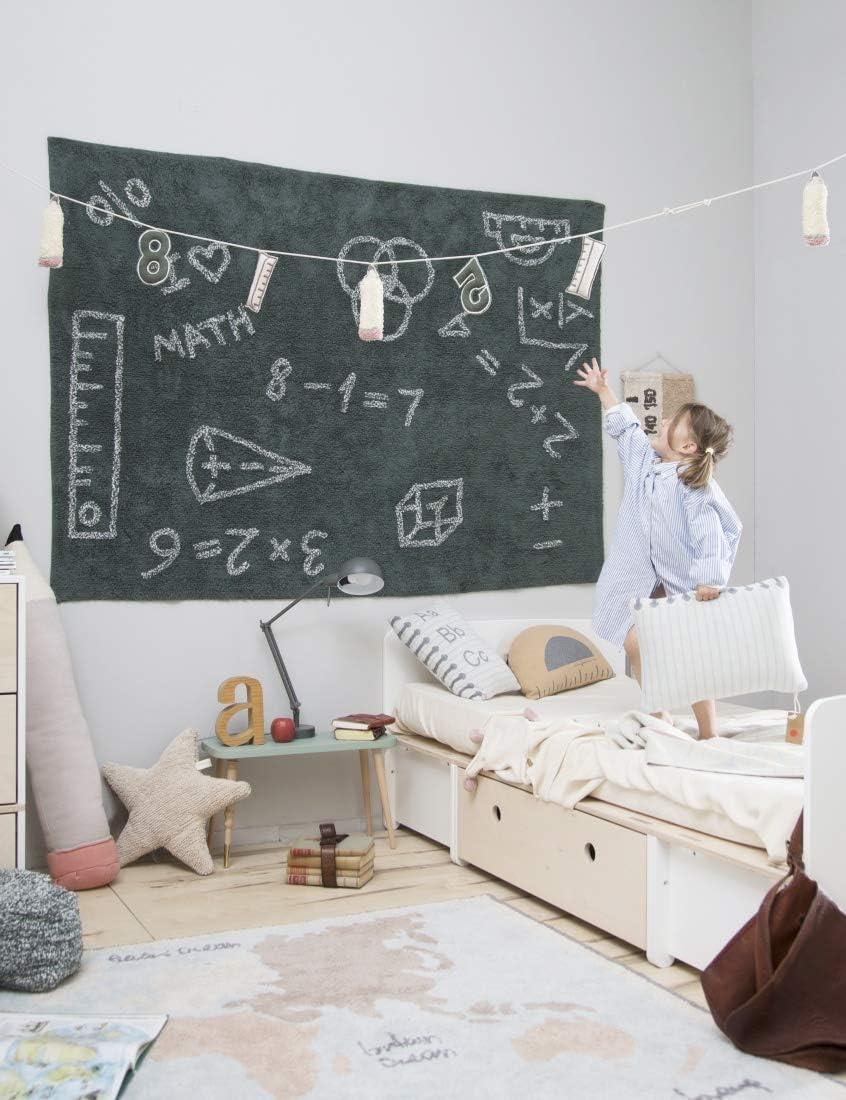 100/% Polyester Multicolore Lorena Canals Guirlande School 100/% Coton 20x240 cm Filler