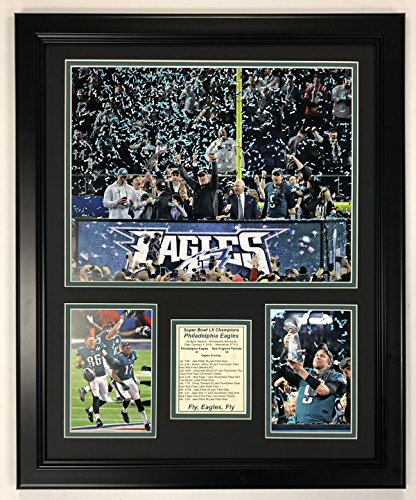 "Legends Never Die Philadelphia Eagles Super Bowl 52 NFL Champions Collectible | Framed Photo Collage Wall Art Decor - 18""x22"""