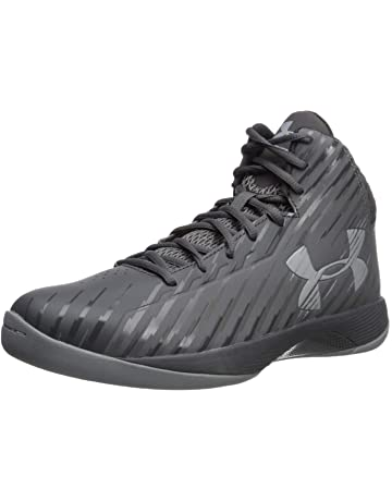 0ca435c8ff Under Armour Men's Jet Mid Basketball Shoe, Black/Steel/White