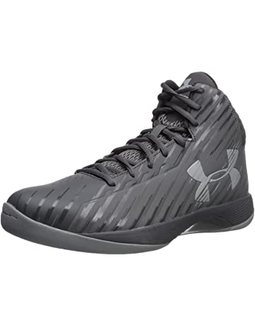 a85de68597 Under Armour Men's Jet Mid Basketball Shoe, Black/Steel/White
