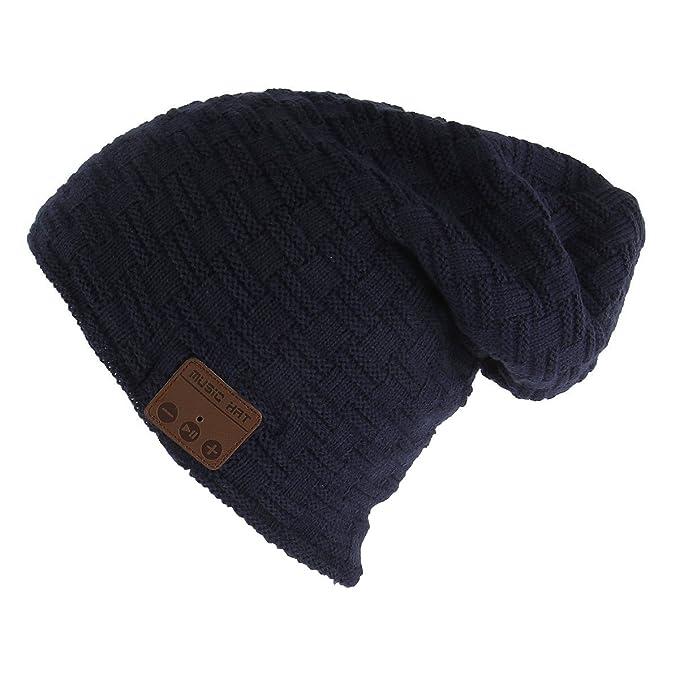 Gorra Bluetooth Hat Cap Auriculares Estéreo 4.2 Gorrita tejida Inalámbrica Conveniente para Deportes al aire libre Regalos de… Y2edy