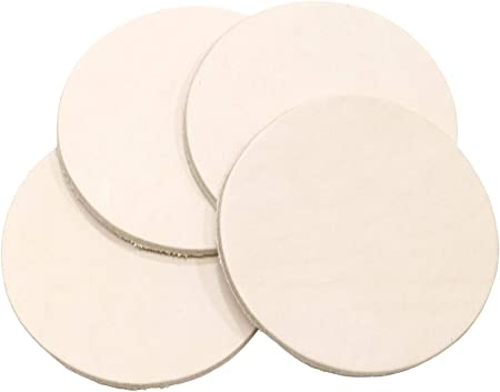 Springfield Leather Company 25 Pack of 3-1//4 Round Vegetable Tan Cowhide LeatherShapes