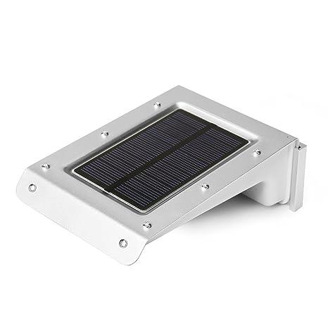 Kohree® Lámpara solar con sensor de movimiento inalámbrico, 20 LED solares para jardín,