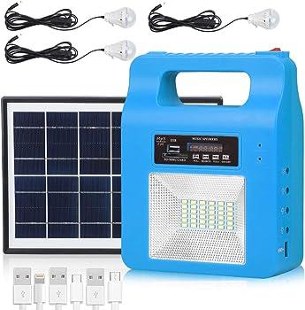 Docusu Portable Solar Generator Lighting Kit