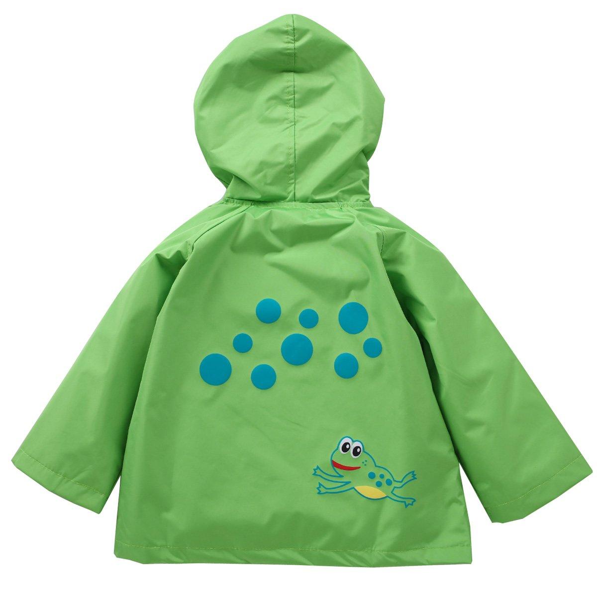 a780d74ceab2 Amazon.com  LZH Toddler Rain Jacket Girls Boys Raincoat Waterproof ...