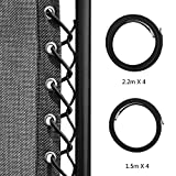 Homgaty Black 8 Strings Universal Elastic Replacement Cords Laces for Zero Gravity Chair,Recliner, Lounge Chair,2.2m and 1.4m