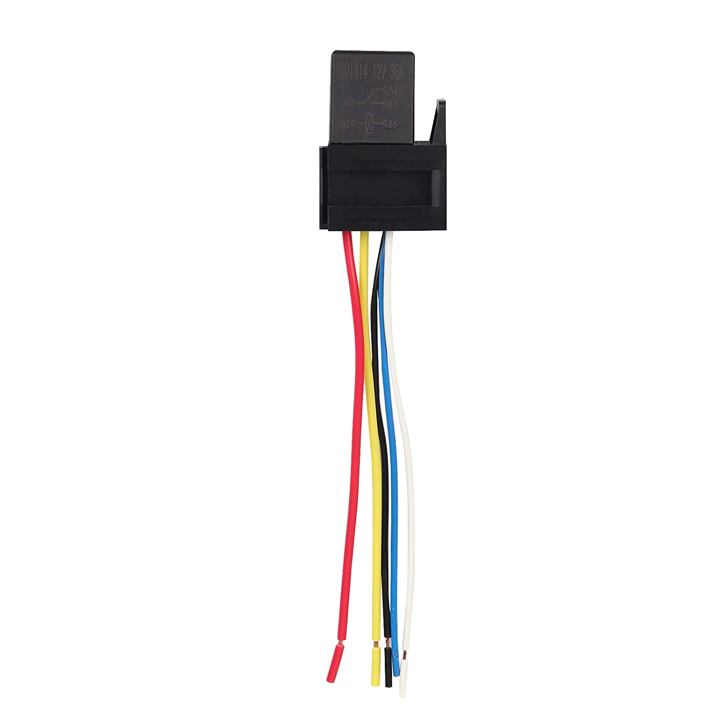 Pack of 5 Ehdis 5 Pin Wires Cable Relay Socket Harness ... Standard Relay Wiring on