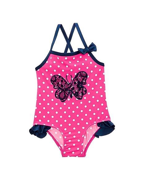 Amazon.com: Wippette bebé niña mariposa traje de baño de una ...