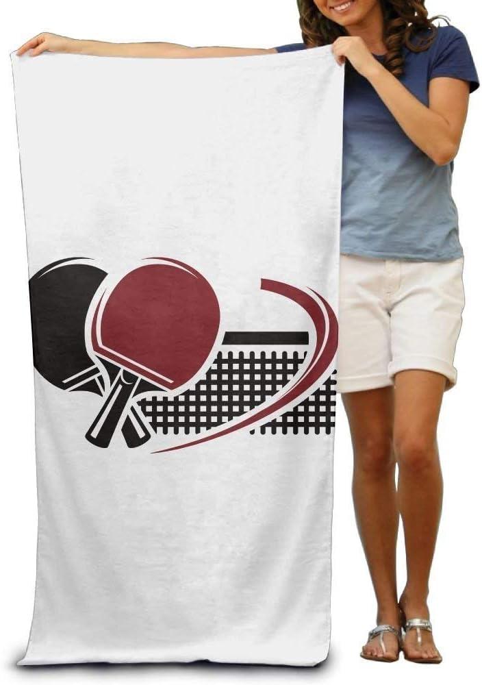 Walnut Cake Serviettes Plage Draps de Bain Super Absorbent Beach Towel Table Tennis Time Polyester Velvet Beach Towels 31 X 51 inch