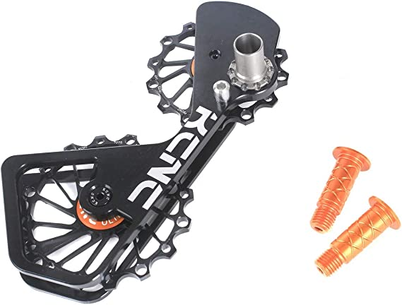 KCNC Road Cyclocross Gravel Bicycle Bike Rear Derailleur Oversized Pulley Wheel System Cage OSPW for Shimano Dura-Ace/Ultegra 6700/6770/6800/6870/7900/7970/9000/9070 use in Black/Red/Gold Colors