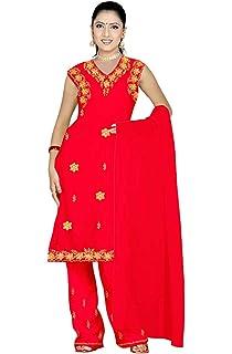 Trendofindia Salwar Kameez Set Carnaval Sari Inde Bollywood Jaune Taille L