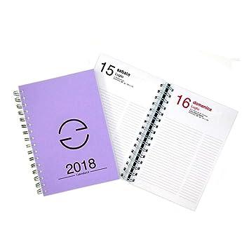 Agenda 2018 diaria 365 días tamaño 15 x 21 cm con espiral ...