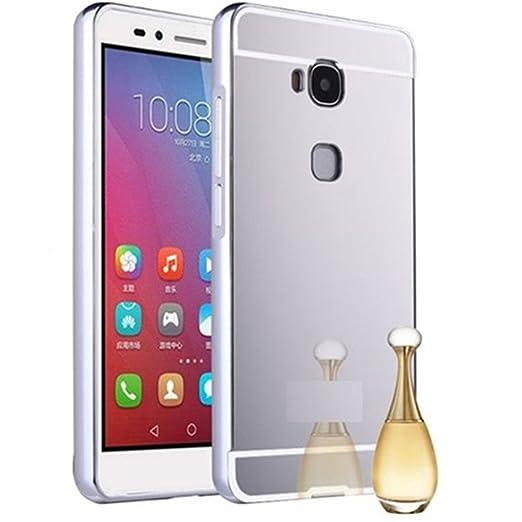 7 opinioni per HUANGTAOLI Bumper di Metallo in Alluminio Custodia a Specchio Cover per Huawei