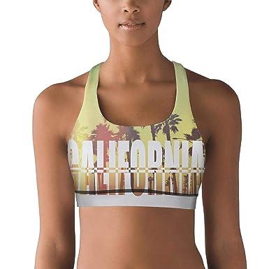 deb5019a7d58f3 juiertj rt Breathable California Beach Coast Travel Jogging Yoga Bra for  Beautiful Women