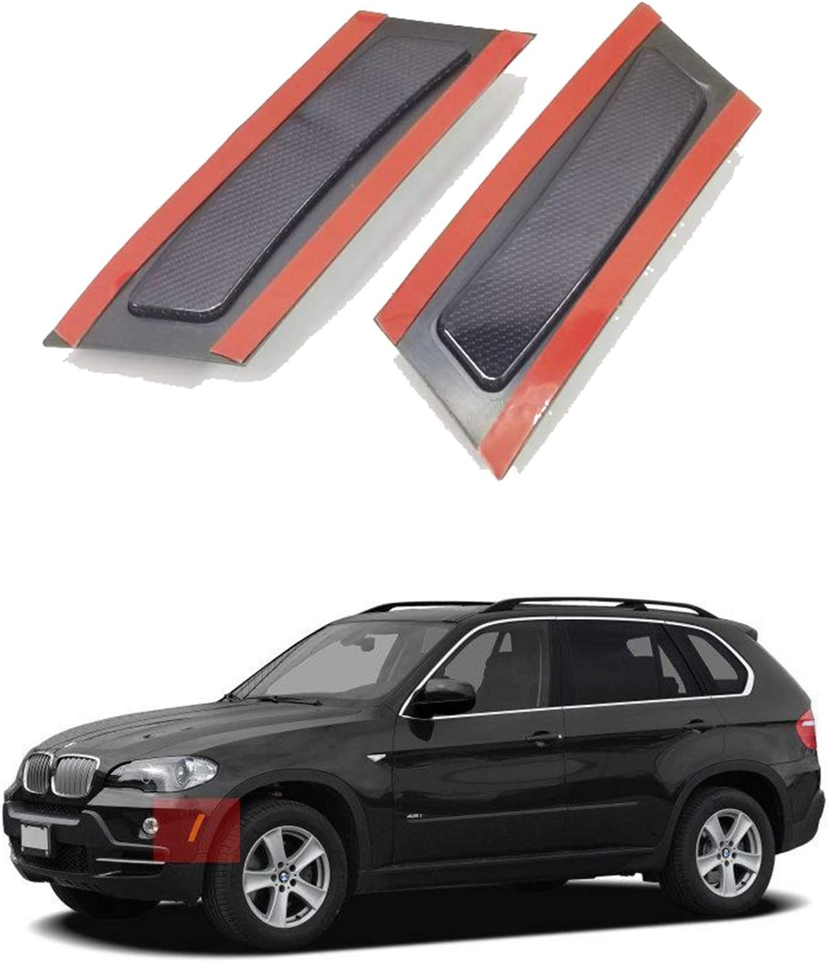 Amber Lens Crystal Clear//Smoke//Amber//Dark Grey//Red Lens Front Bumper Side Marker Reflector Light Fender Replacement for 2007-2010 BMW X5 E70 Pre-LCI