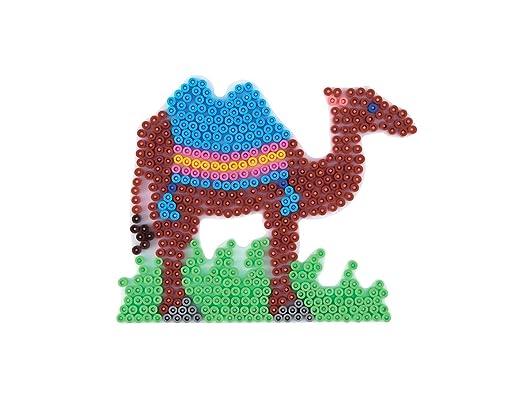 Hama Beads Elephant, Giraffe, Lion & Camel Pegboard Set