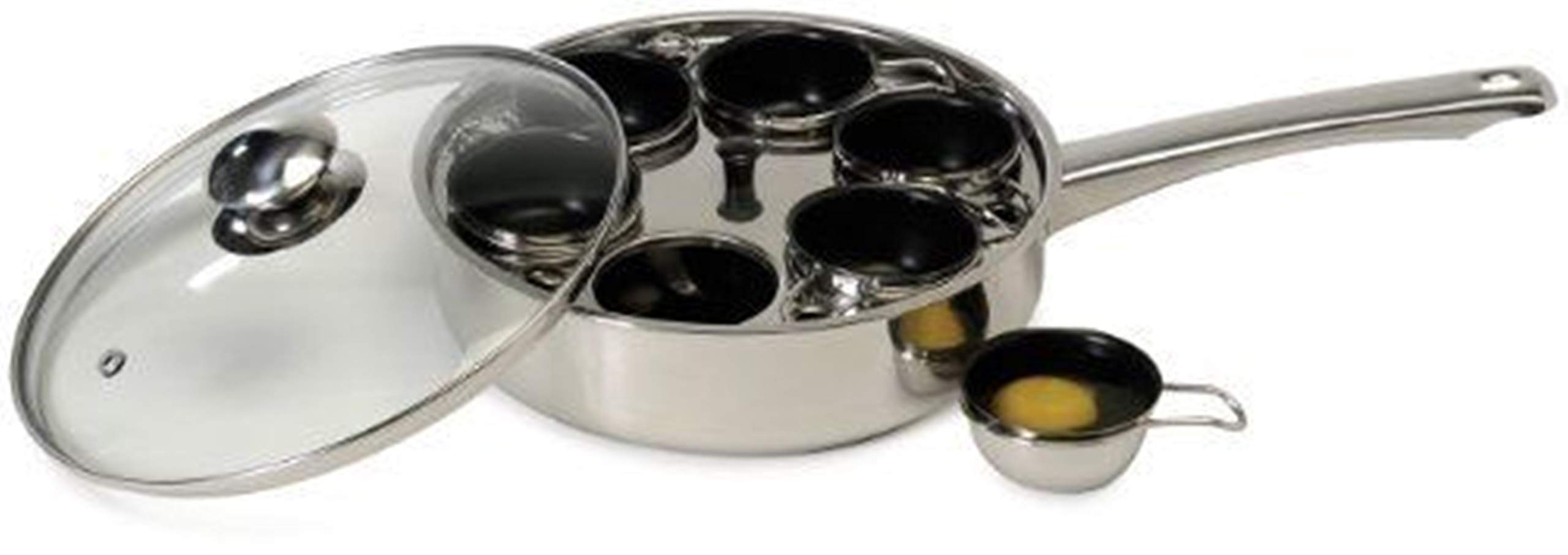 Egg Poacher Pan 6 Cups Cooking Coated Cookware Kitchen Fry Poached Eggs Skillet