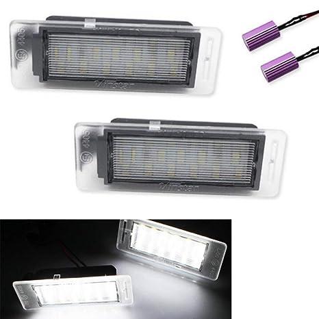 2pcs 18 LED Luz de Matrícula para Coche, Lámpara Placa Matrícula para Insignia sports Tourer