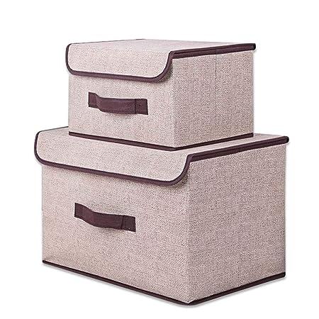 para el Dormitorio Sujetadores de Ropa Interior Calcetines Corbatas Corbatas Cajas de Almacenamiento de Ropa-A YQAD Cajas de Almacenamiento Plegables Pa/ños Modernos//Juego de 2