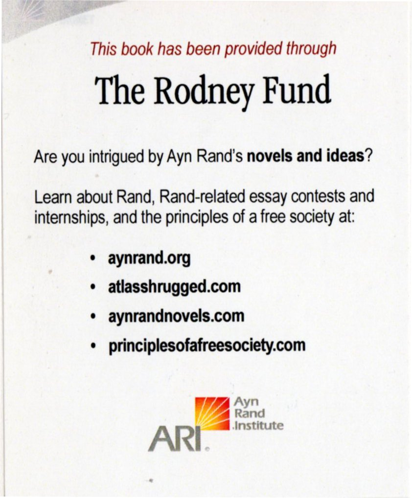 ayn rand essay scholarships Ayn rand scholarships: opening doors and minds an article by tamara  unigo colleges college search  ayn rand scholarships: opening doors and minds  i had never heard of the.