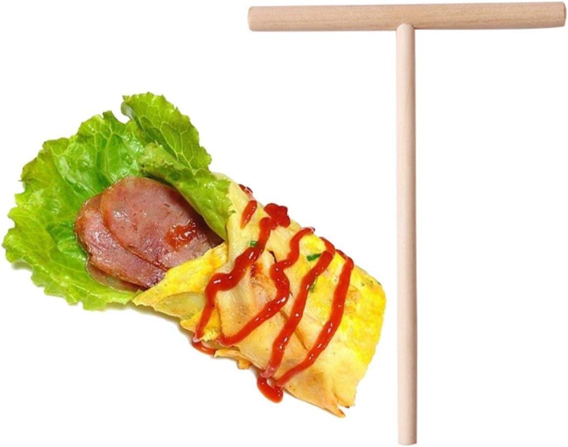 Sylvialuca DIY Pancake Spreader Sp/écialit/é Chinoise Cr/êpe Tortilla R/âteau en Bois /Épandeur B/âton Cr/êpe Maker Accueil Cuisine Outil