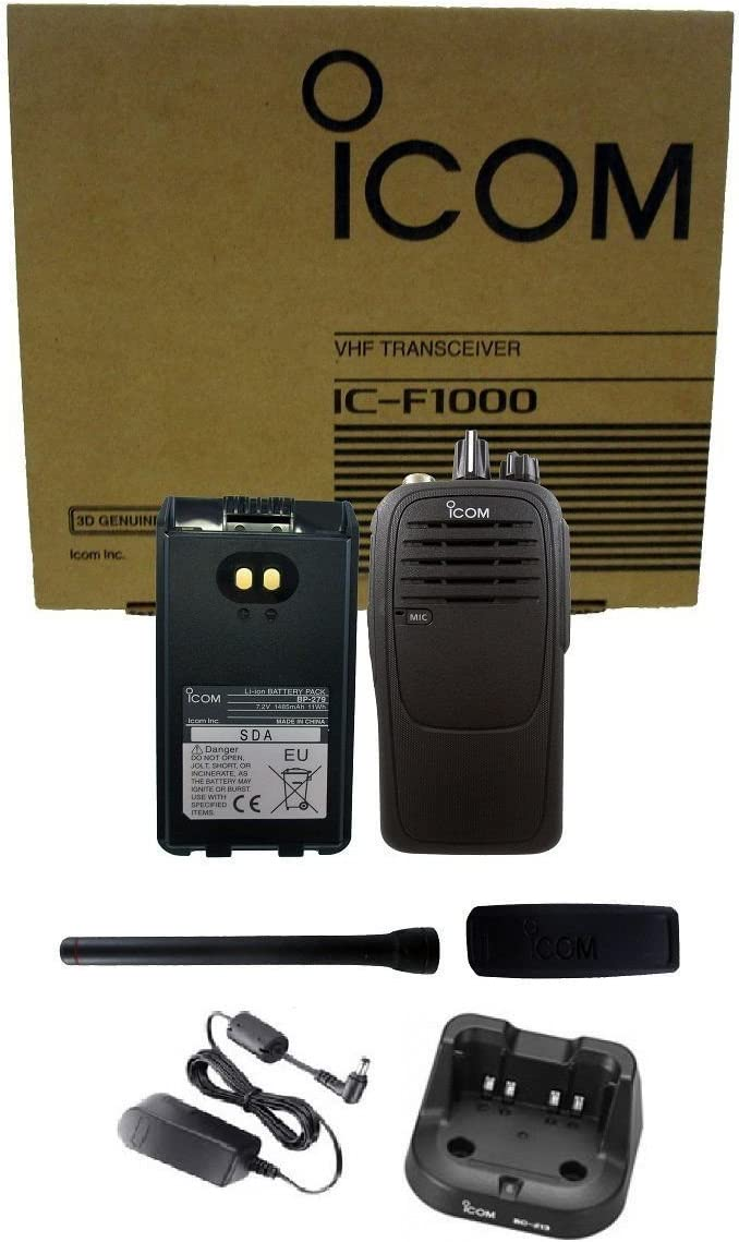 Icom IC-F1000 01 5 watt 16 channel VHF 136-174mhz two way radio
