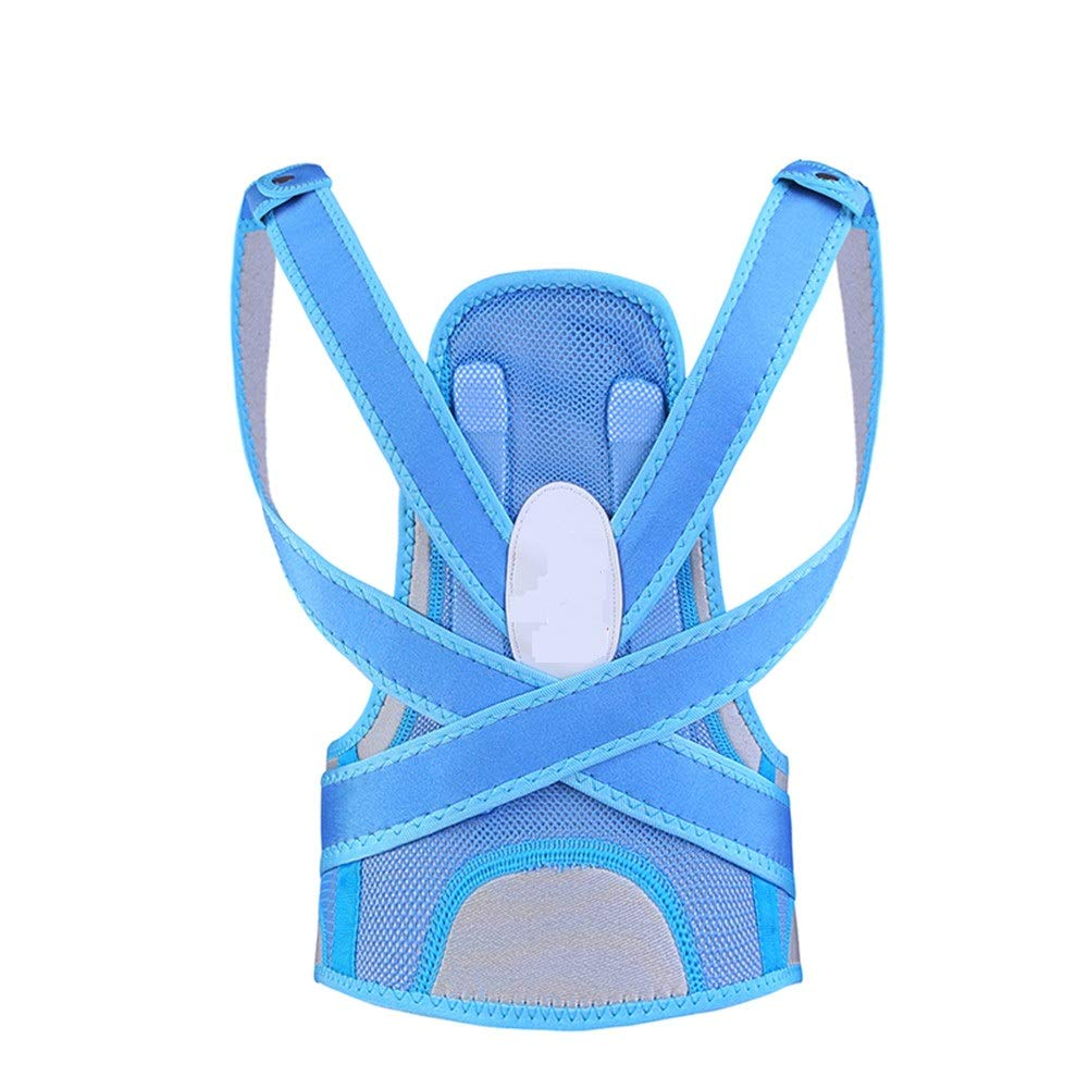 Corrector de postura Blue Posture Corrector, Children Support Brace for Back Shoulder Neck Pain Relief Clavicle Physiotherapy Supplies (Size : L60-75cm)