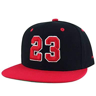 b775244681d Number  23 Black Red Visor 2tone Snapback Hat Cap X Air Jordan 1 at ...