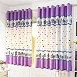 TIANTA- A Set Of 2 Pcs Bedroom Living Room Balcony Semi-shading Curtain Simple Modern Finished Product decorate ( Size : 2.92m (widthheight) )