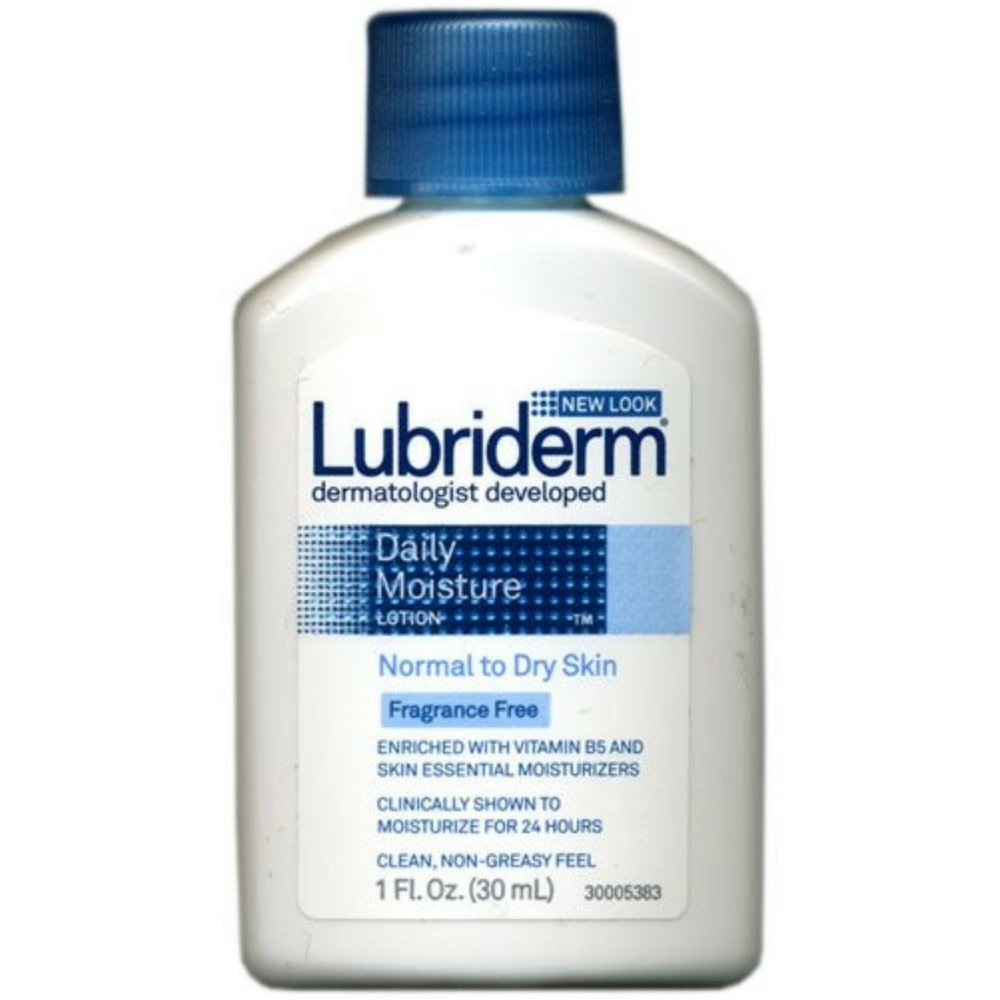 Lubriderm Daily Moisture Lotion, Fragrance Free 1 oz ( Pack of 6)