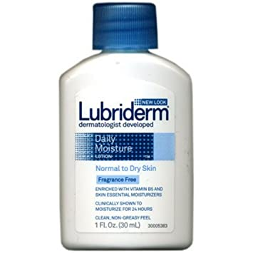 Lubriderm Daily Moisture Lotion Fragrance Free 3 oz (Pack of 6) Rilastil Daily Care Make-Up Removing Wipes-25 ct
