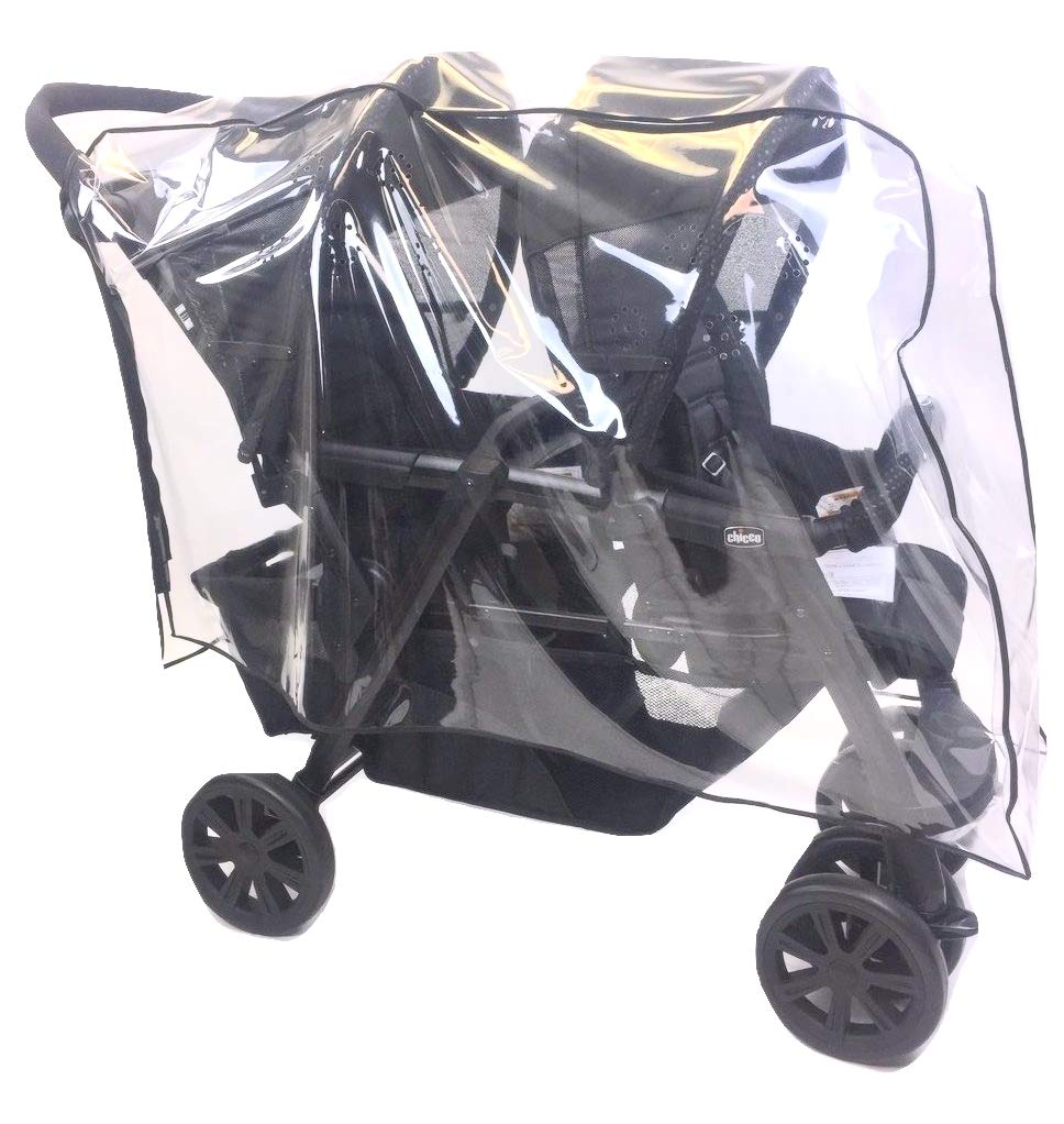Sasha's Premium Series Rain and Wind Cover for Chicco Cortina Together Double Stroller by Sasha Kiddie Products (Image #1)