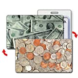 Lenticular Luggage Tag Plastic Loop, Flips coins to dollars