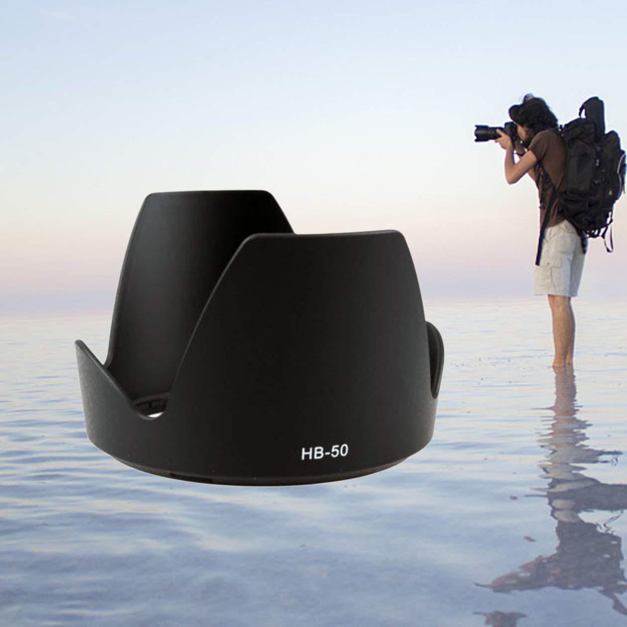 Noir Pare-Soleil Professionnel remplace Le Pare-Soleil en p/étale Hb-50 pour Nikon AF-S Nikkor 28-300Mm F 3.5-5.6G Ed VR Hb50 28-300 AFS