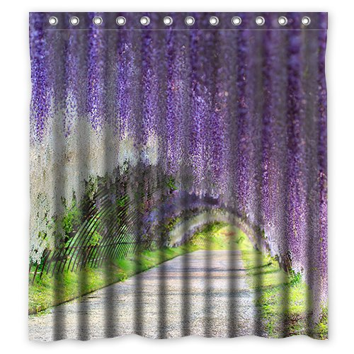 Merveilleux Custom Wisteria Flower Waterproof Polyester Fabric Bathroom Shower Curtain  Standard Size 60(w)x72