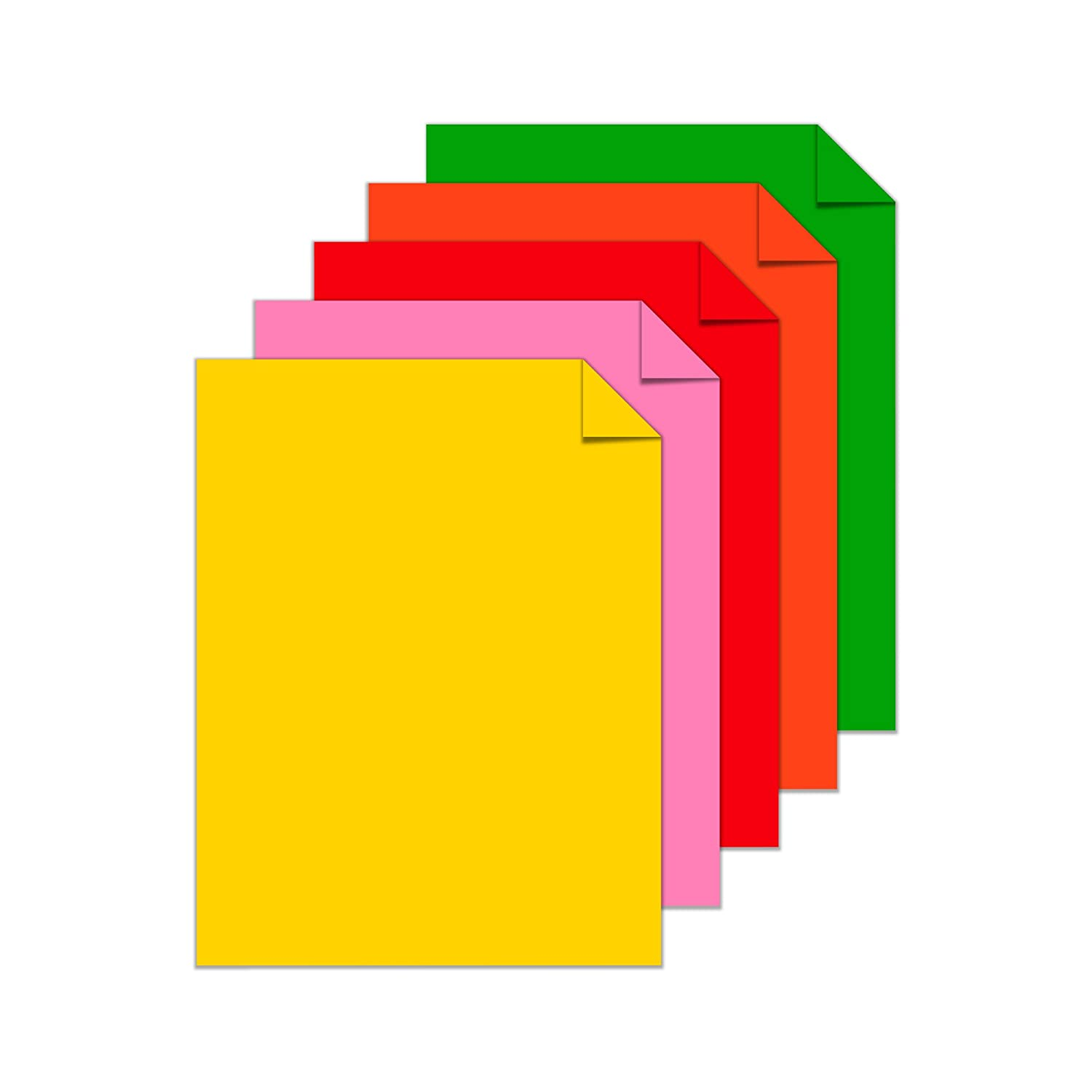 Multi color cardstock paper - Amazon Com Neenah Paper Colored Cardstock 8 5 X 11 Vintage 5 Color Assortment 250 Sheets 21003 Office Products