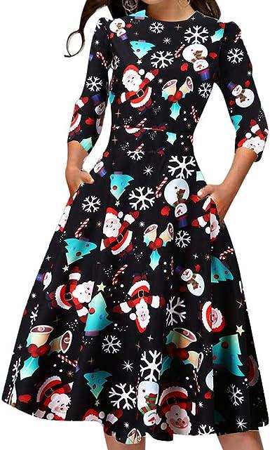 Disfraz Halloween Mujer,Vestido Acampanado Vintage con Estampado ...